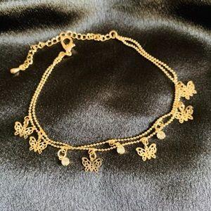 🎀🎁New Golden Color Charm Foot Chain Bracelet